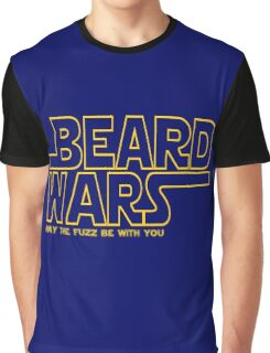 Beard Wars May The Fuzz Be With You Men's Funny Beard Sci-fi  Graphic T-Shirt