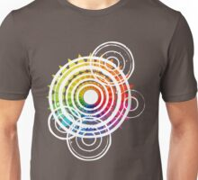 Raindrops Rippling On The Colour Wheel Unisex T-Shirt