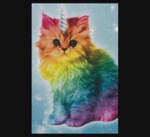 Unicorn Rainbow Cat Kitten Funny One Piece - Short Sleeve