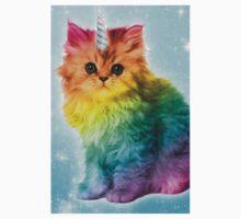 Unicorn Rainbow Cat Kitten Funny One Piece - Short Sleeve