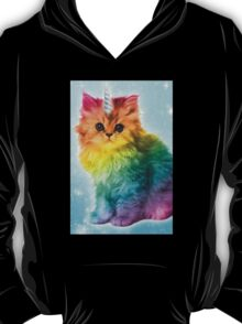 Unicorn Rainbow Cat Kitten Funny T-Shirt