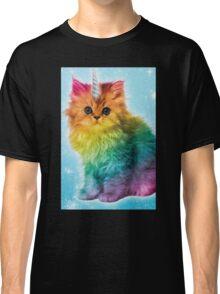 Unicorn Rainbow Cat Kitten Funny Classic T-Shirt