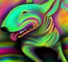 English Bull Terrier Colour Splash  by Sookiesooker