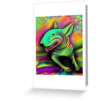 English Bull Terrier Colour Splash  Greeting Card
