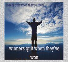 Winners Dont Quit Kids Tee