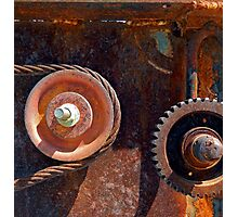 Rusty Wheels and Gears Photographic Print
