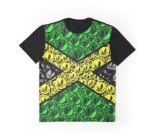 Jamaican Cannabis Flag  Graphic T-Shirt