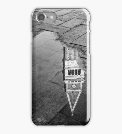 Reflected Bell Tower, Venice, Italy iPhone Case/Skin