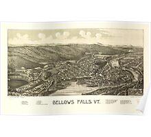 Panoramic Maps Bellows Falls Vt Poster