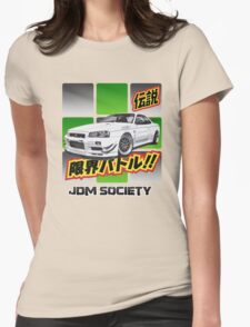 Mines Skyline R34 GT-R Womens Fitted T-Shirt