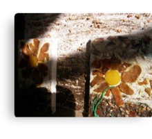 SPRING 20 - TOOLS HELP PLANT'S TO GROW - SHARE KNOWLEDGE - GROW FOOD Canvas Print