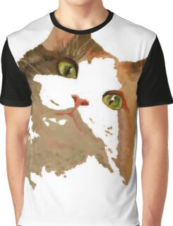 I'm All Ears - Cute Calico Cat Portrait Graphic T-Shirt
