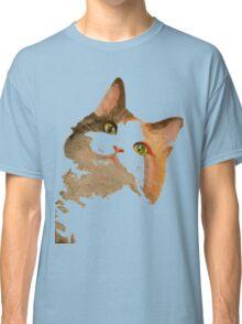 I'm All Ears - Cute Calico Cat Portrait Classic T-Shirt