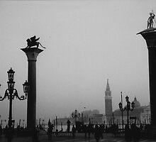 Venice St Mark's Square Fog by AHigginsPhoto