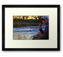 Self Portrait, by the River Tees, Low Coniscliffe, England Framed Print