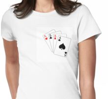 The winning hand Womens Fitted T-Shirt
