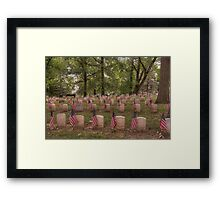 Tribute to Our Veterans Framed Print