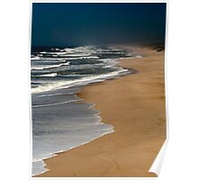 Boavista coast - only waves and wind Poster
