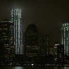 a foggy evening in lower manhattan by Kevin Koepke