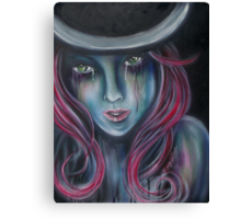 Green Eyed Maiden Canvas Print