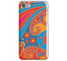 orange and blue paisley pattern iPhone Case/Skin