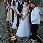 wedding party -  on the train track by gaylene