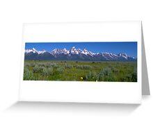 Grand Teton Bison panorama Greeting Card