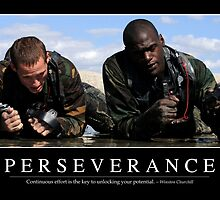 Perseverance: Inspirational Quote and Motivational Poster by StocktrekImages