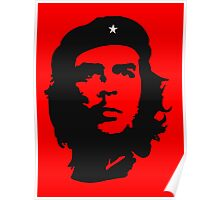 Che, Guevara, Rebel, Revolution, Marxist, Revolutionary, Cuba, Power to the people! Black on Red Poster