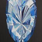 Blue diamond I phone 4 by Margherita Bientinesi