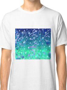 Blue Music Bubbles Design Classic T-Shirt