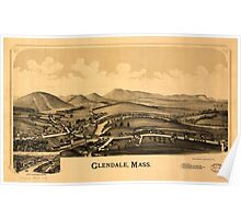Panoramic Maps Glendale Mass Poster