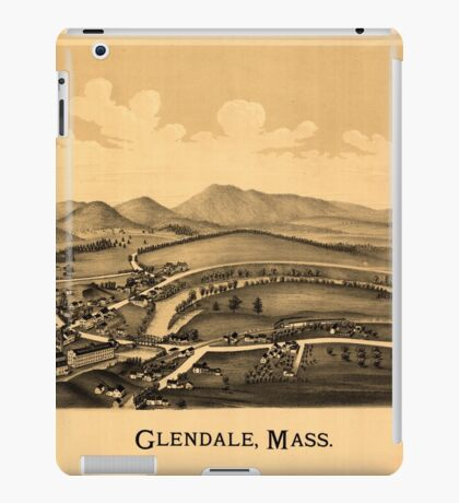 Panoramic Maps Glendale Mass iPad Case/Skin