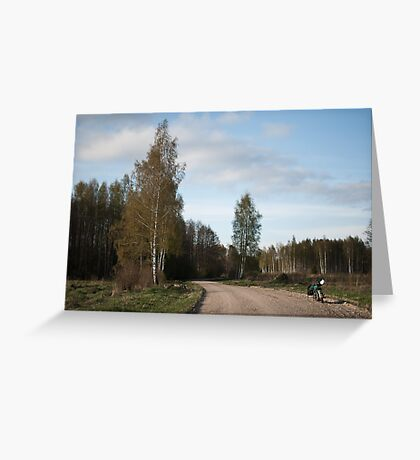 Latvian countryside Greeting Card