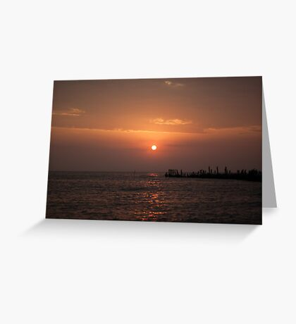 Sunrise at Engure's mols Greeting Card