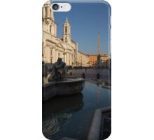 Roman Morning - Shadow and Light on Piazza Navona, Rome, Italy iPhone Case/Skin