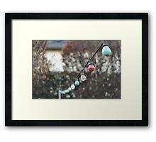 Colorful lightbulbs Framed Print