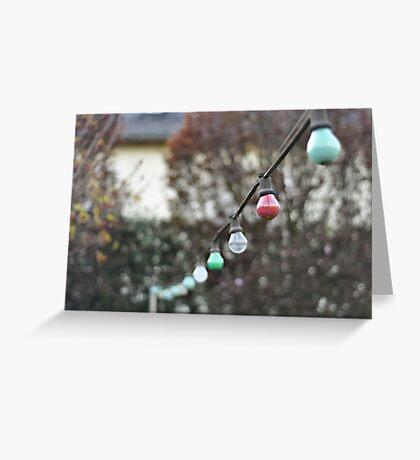 Colorful lightbulbs Greeting Card