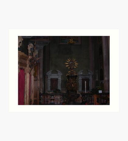 Cathedral - interior - 2 - VETRINA RB EXPLORE  10 ottobre 2013 - Art Print