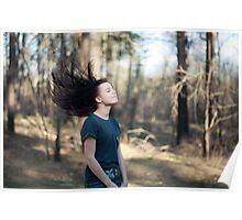 Hair flip Poster