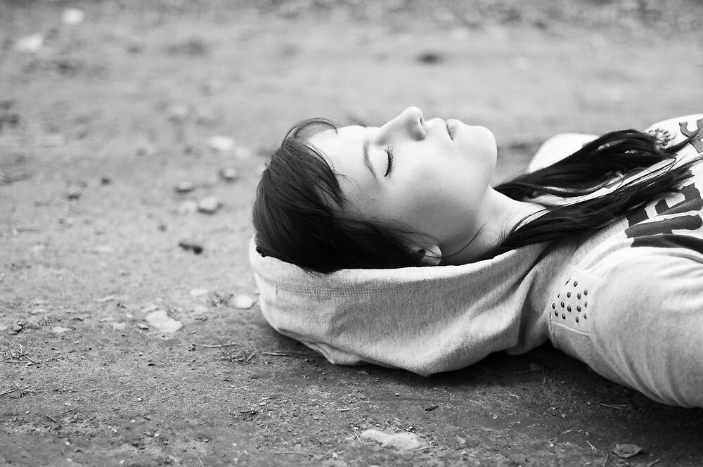 On the ground by Anete Bauere