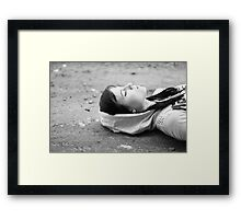 On the ground Framed Print