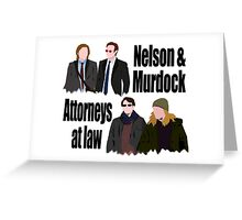 neson and murdock - past and present Greeting Card