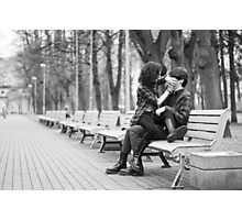 Couple in park Photographic Print