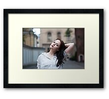 Girl with a tattoo Framed Print