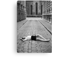 Laying on the ground Canvas Print