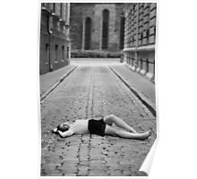 Laying on the ground Poster