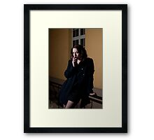 Girl with a cigarette Framed Print