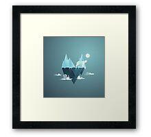 Low Poly Polar Bear Framed Print