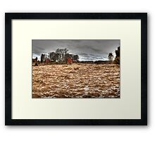 A farm scene Framed Print